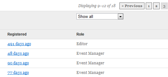 Filter the user list on any field including custom and meta values