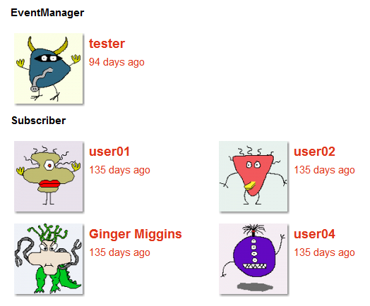 Grouping users in the simple non table view