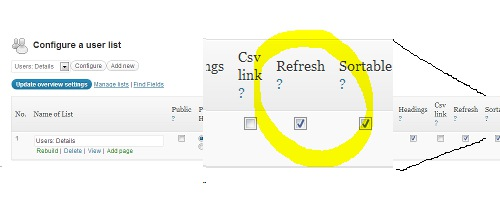 On demand refresh setting